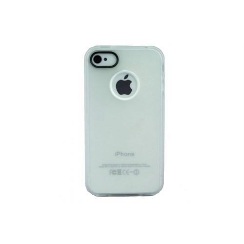 Teleplus İphone 4 Silikon Kılıf Kapak Beyaz