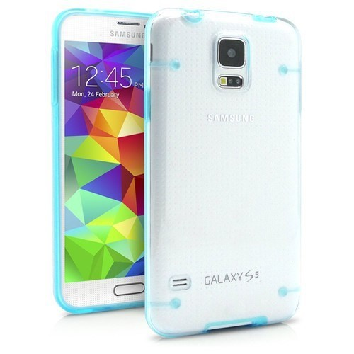 Teleplus Samsung Galaxy S5 Darbe Korumalı Rubber Kılıf Mavi
