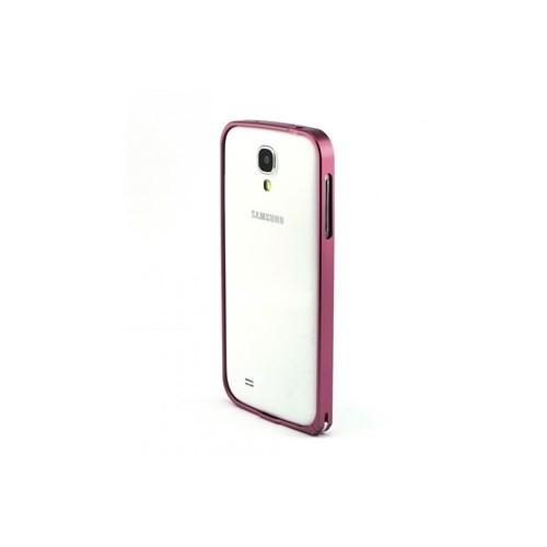 Teleplus Samsung Galaxy S4 Metal Çerçeve Kenarlık Kılıf Pembe Renk