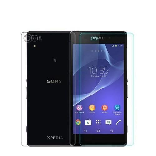 Teleplus Sony Xperia Z2 Ön Ve Arka Cam Ekran Koruyucu Cam Ekran Koruyucu Film