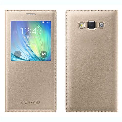 Markaawm Samsung Galaxy A7 Kılıf Flip Cover Pencereli