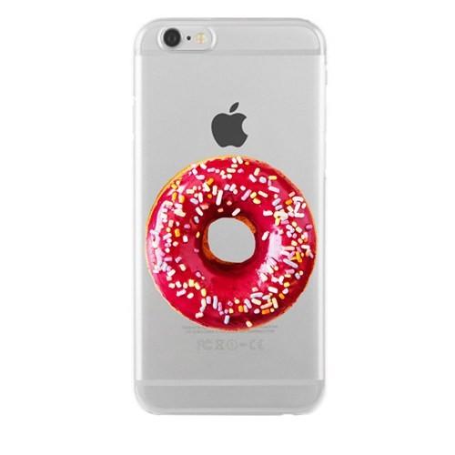 Remeto Samsung Galaxy E7 Transparan Silikon Resimli Donut