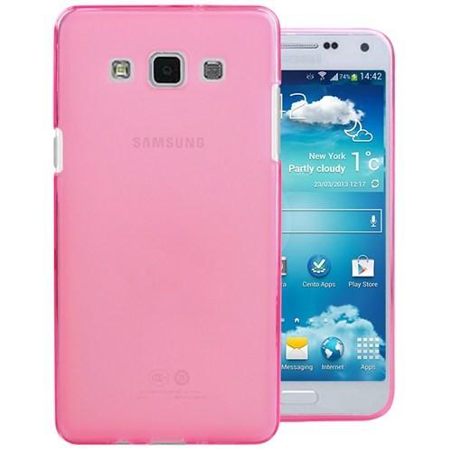 Microsonic Samsung Galaxy E7 Transparent Soft Kılıf Pembe - CS130-TRP-GLX-E7-PMB