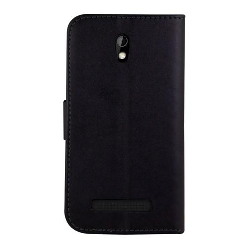 Microsonic HTC Desire 500 Cüzdanlı Suni Deri Kılıf Siyah - CS150-WLT-DSR-500-SYH