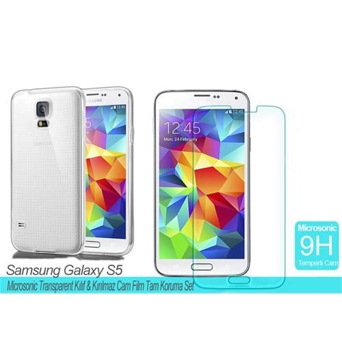 Microsonic Samsung Galaxy S5 Transparent Kılıf & Film Tam Koruma Set