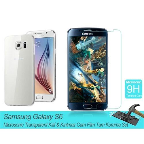 Microsonic Samsung Galaxy S6 Transparent Kılıf & Film Tam Koruma Set