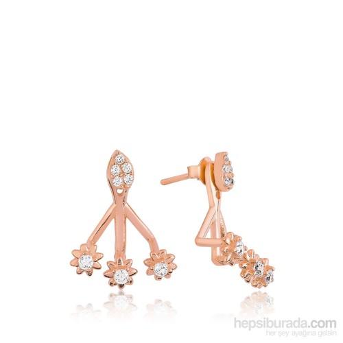 Olivin Accessories Gümüş Sihirli Çiçek Küpe 610046
