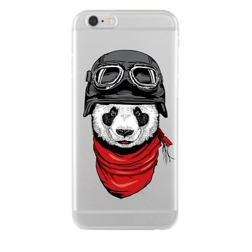 Remeto Samsung Galaxy A3 Transparan Silikon Resimli Motorcu Panda