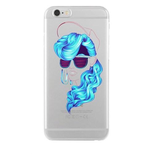 Remeto Samsung Galaxy S4 Mavi Bukleli Model Transparan Silikon Resimli Kılıf