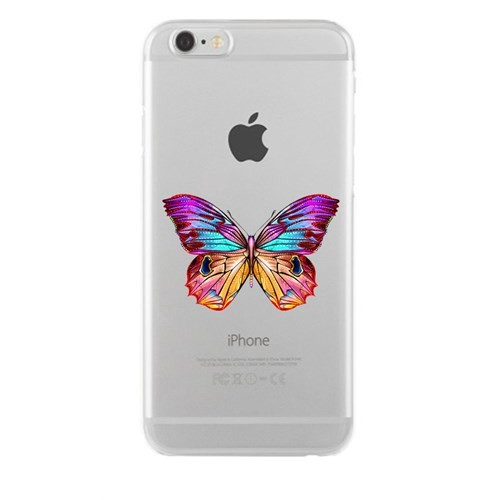 Remeto iPhone 6/6S Plus OLGun Kelebek Apple Şeffaf Silikon Resimli Kılıf