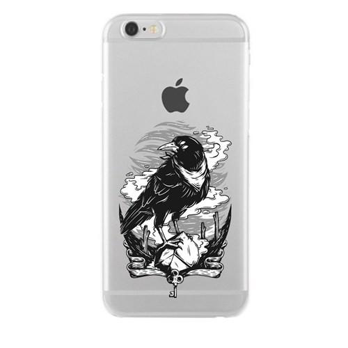 Remeto iPhone 6/6S Gizemli Kargo Apple Şeffaf Silikon Resimli Kılıf