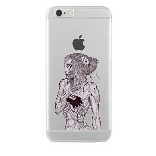 Remeto iPhone 6/6S Zombi Kadın Apple Şeffaf Silikon Resimli Kılıf