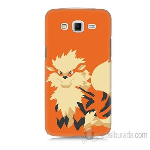 Teknomeg Samsung Galaxy Grand 2 Kapak Kılıf Pokemon Arcanine Baskılı Silikon