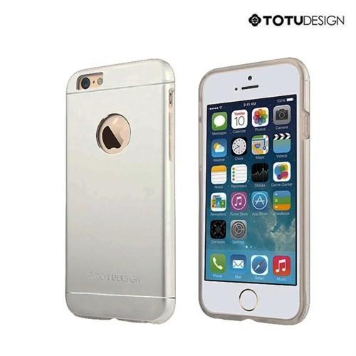 Totu Design Apple iPhone 6 Plus Jaeger Series Metal Arka Kapak Space Grey