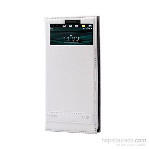 Teleplus Lg V10 Lüx Pencereli Kılıf Beyaz