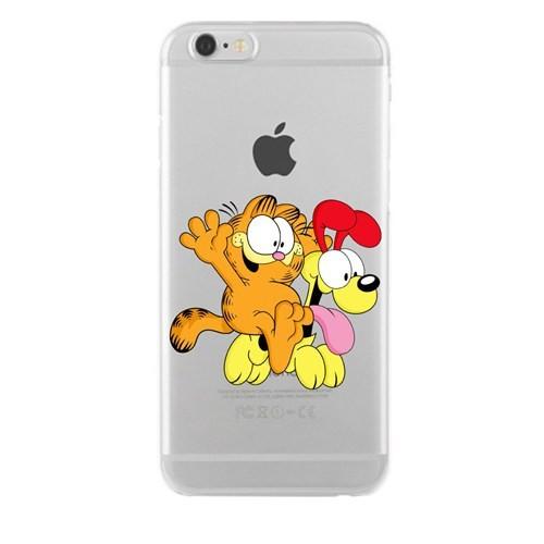 Remeto Samsung Galaxy S4 Mini Transparan Silikon Resimli Garfield Ve Odie