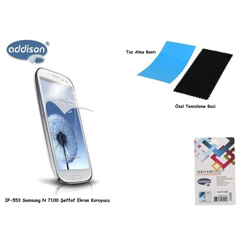 Addison Ip-553 Samsung Note 2 Parlak Ekran Koruyucu