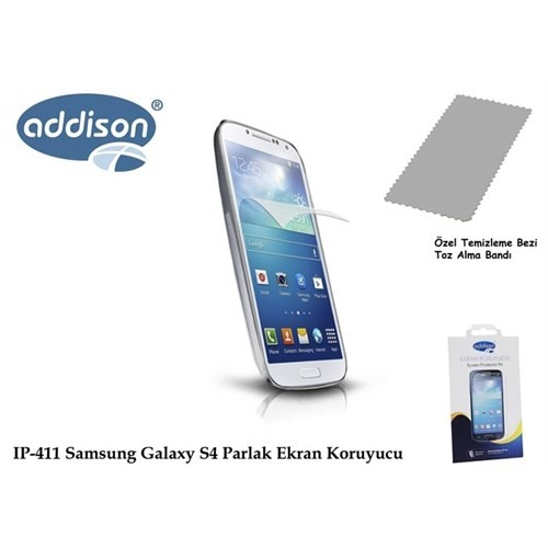 Addison Ip-411 Samsung Galaxy S4 Ultra Şeffaf Ekran Koruyucu