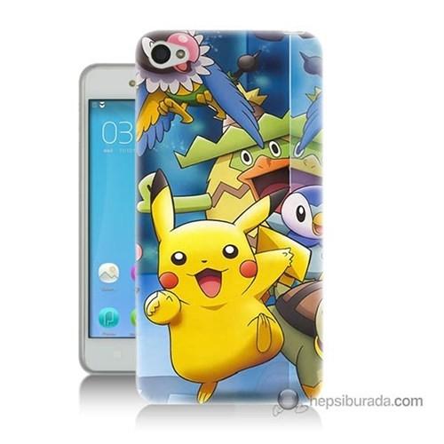 Teknomeg Lenovo Vibe S90 Kapak Kılıf Pokemon Pikachu Baskılı Silikon
