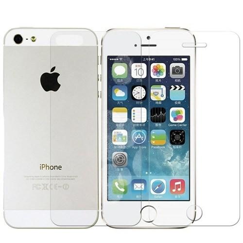 Sonmodashop Apple iPhone 5 Ön Arka Temperli Cam Ekran
