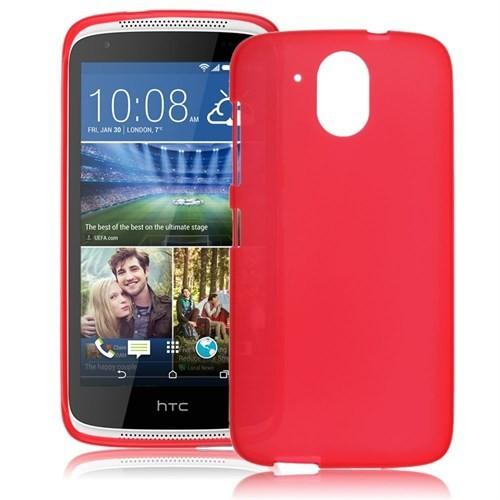 Teleplus Htc Desire 526G Tam Korumalı Silikon Kılıf Kırmızı