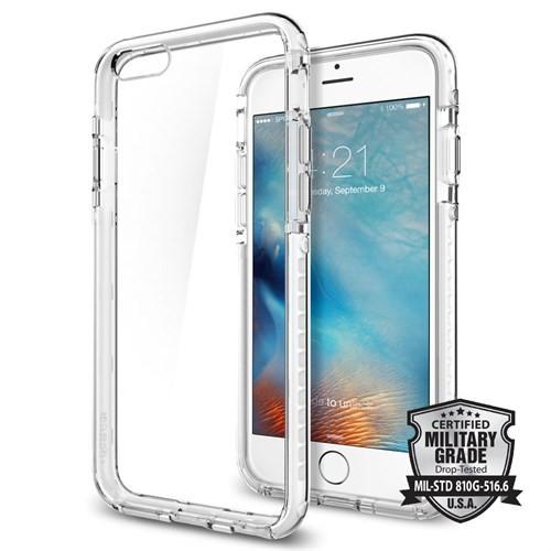 Spigen Apple iPhone 6S Plus Kılıf Ultra Hybrid TECH Crystal White - 11745
