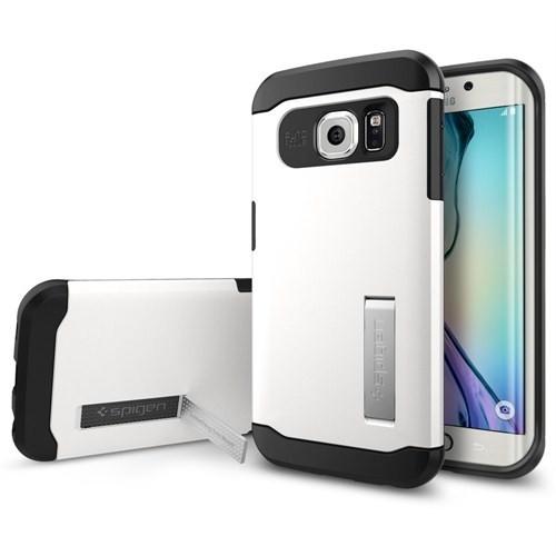 Spigen Samsung Galaxy S6 Edge Kılıf Slim Armor Shimmery White - 11424