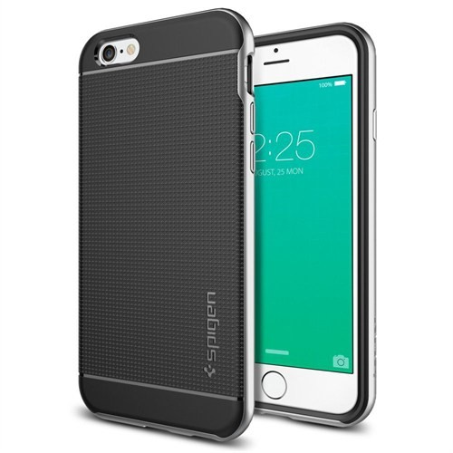 Spigen Apple iPhone 6S Kılıf Neo Hybrid Satin Silver -SGP11620