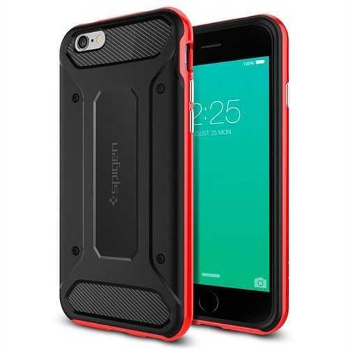 Spigen Apple iPhone 6S Kılıf Neo Hybrid Carbon Dante Red - 11623