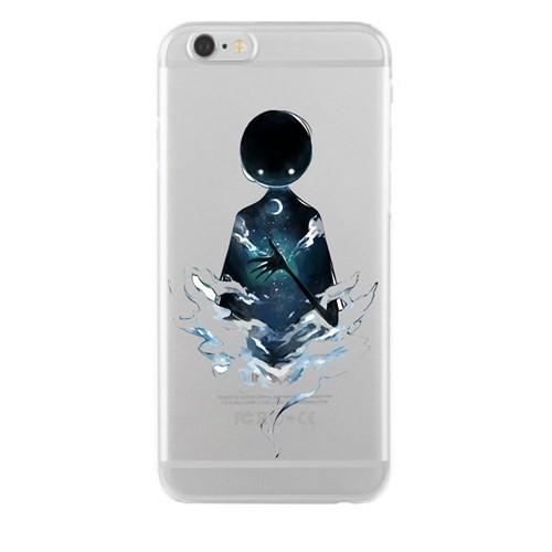 Remeto iPhone 6/6S Plus Şeffaf Silikon Resimli Gecenin Hayaleti