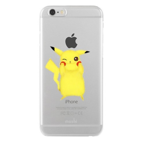 Remeto Samsung Galaxy S5 Mini Transparan Silikon Resimli Pikachu Tasarımlı