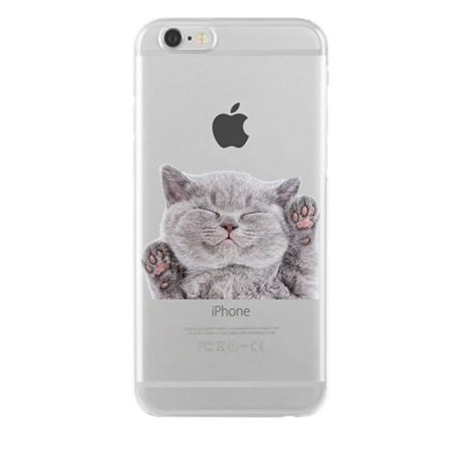 Remeto Samsung Galaxy S5 Mini Transparan Silikon Resimli Kedi Tasarımlı