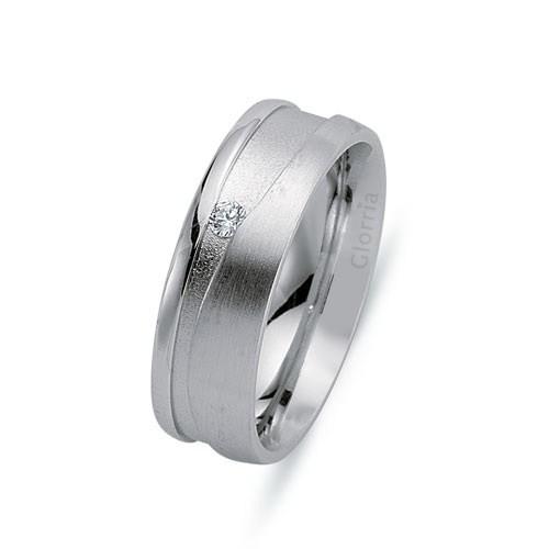 Glorria 925 Ayar Gümüş 6.55Mm Bayan Alyans Yüzük