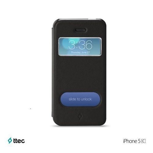 Ttec FlipCase Smart Koruma Kılıfı iPhone 5c Siyah