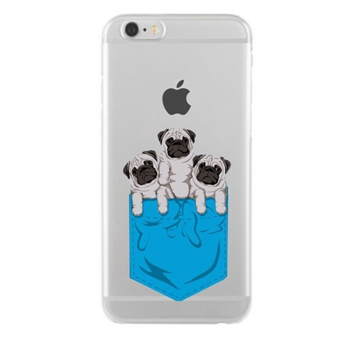 Remeto Samsung Galaxy S4 Mini Transparan Silikon Resimli Yavru Köpekler Cepte