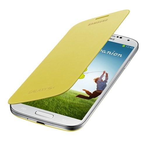 Samsung i9500 Galaxy S4 Kapaklı Kılıf Sarı EF-FI950BYEGWW