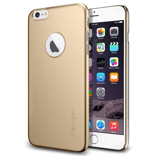 Spigen Apple iPhone 6s Plus/6 Plus Kılıf Thin Fit A Serisi Champagne Gold (PET) - 10889