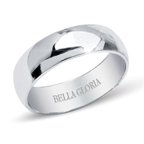 Bella Gloria Altın Kaplamalı Gümüş Bombeli Kadın Alyans (GA00011)