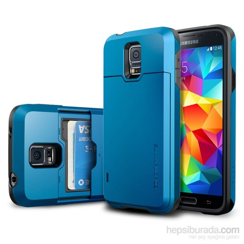 Spigen Samsung Galaxy S5 Slim Armor CS Kılıf - Electric Blue
