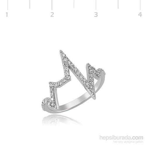Gumush Gümüş Kalp Ritmi Yüzük