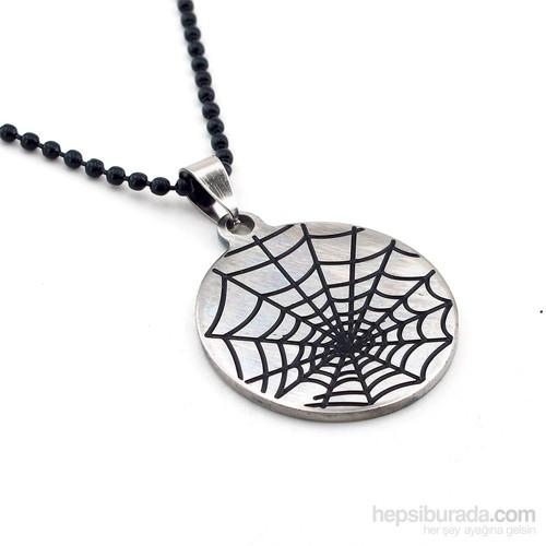 Solfera Örümcek Ağı Spiderman Erkek Çelik Kolye K483