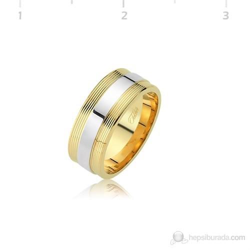 Tekbir Silver 925 Altın Kaplama Alyans WR0820067