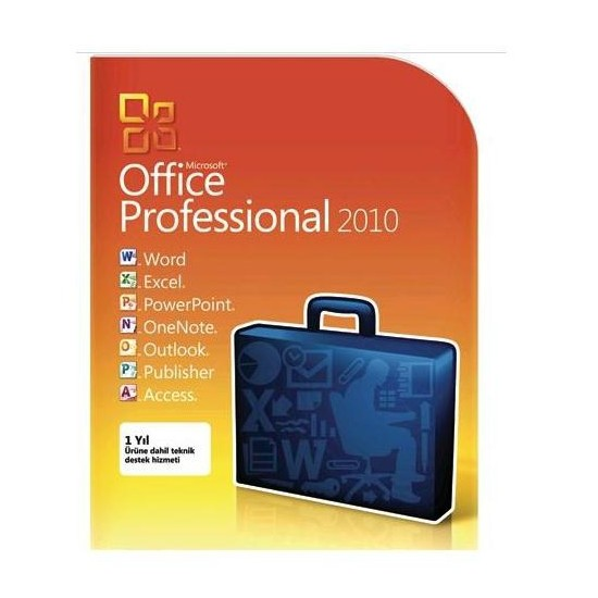 Microsoft Office 2010 Professional Türkçe Kutu 269-14696