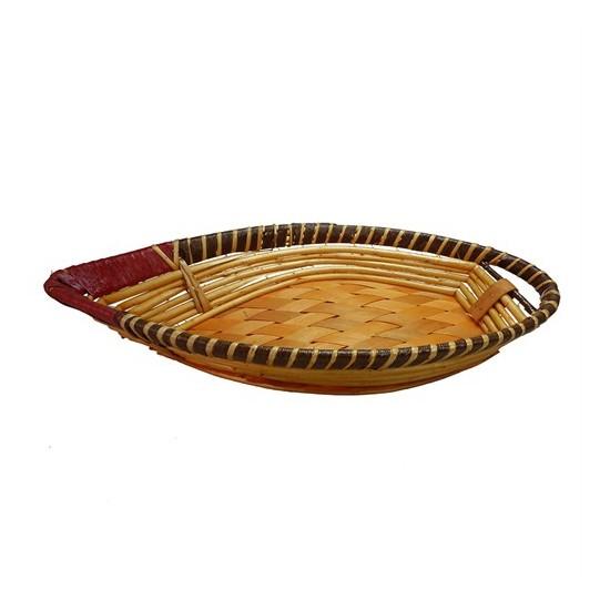 Cosıness Yaprak Hasır Ekmek Sepeti