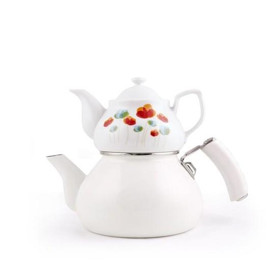 Esse Joie Çaydanlık-Porselen Demlik Beyaz