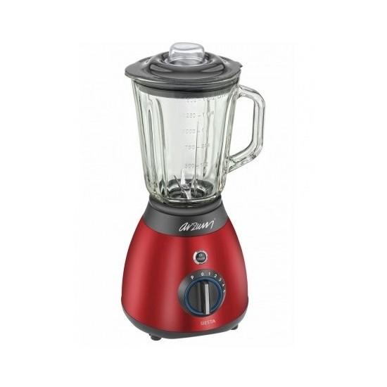 Arzum AR184 Siesta Buz Kırıcılı Cam Kavanoz Blender Kırmızı