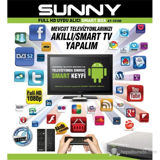 Sunny AT-15100 Android-SmartTV UsbMediaPlayer FULL HD Uydu Alıcılı (AKILLI KUMANDA ÖZELİİĞİ)