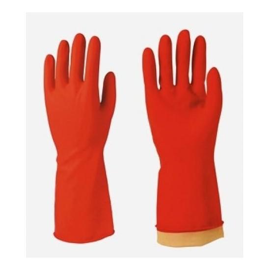 Egeline Kırmızı Renk Bulaşık Eldiveni 1 Çift No:9 Büyük Boy