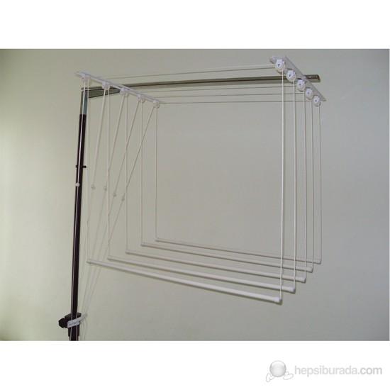 Şenay Dekoratif Asansörlü Çamaşır Kurutma Askısı-6 Çubuklu 120cm