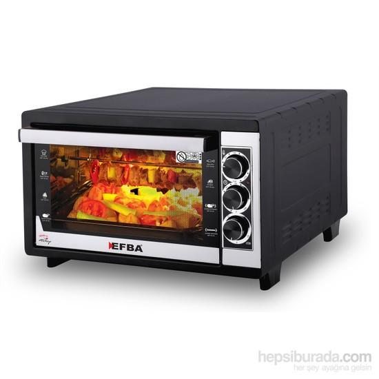 Efba 6004 Fancy Tavuk Çevirmeli Elektrikli Fırın - Siyah